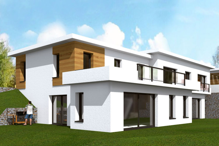 Perspective 3D Maison contemporaine